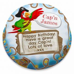 Parrot Pirate Birthday Cake
