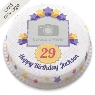 Any Age Starry Photo Cake