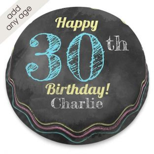 Any Age Chalkboard Number Cake
