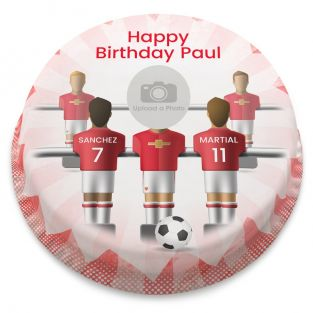 The Red Devils Photo Cake