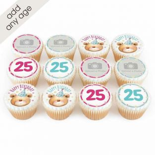 12 Ted Number Cupcakes