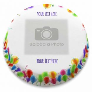 Balloons Photo Cake