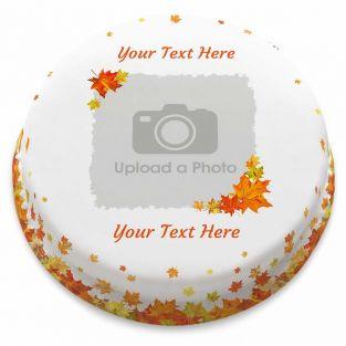Leafy Photo Cake