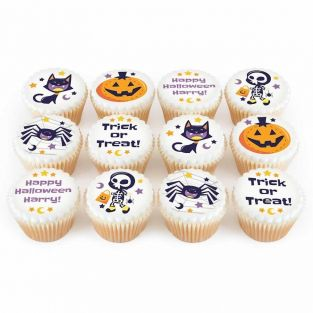 12 Trick or Treat Cupcakes