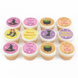 12 Colourful Witch Cupcakes