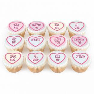 12 Love Heart Cupcakes