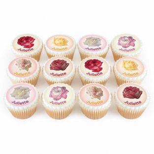 12 Flower Cupcakes