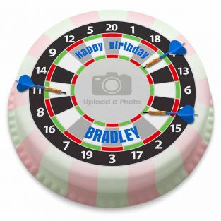 Dart Board Photo Cake