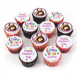 12 Love You Photo Cupcakes