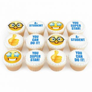 12 Good Luck Emoji Cupcakes