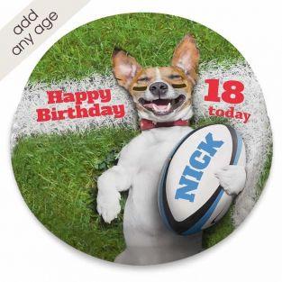 Rugby Dog Cake