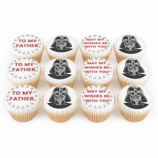 12 Space Father Cupcakes