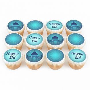 12 Eid Temple Cupcakes
