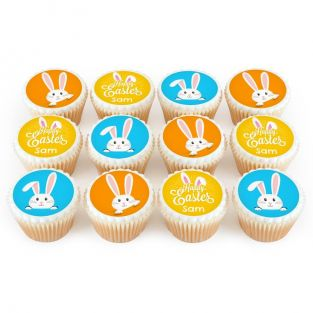 12 Easter Bunny Cupcakes