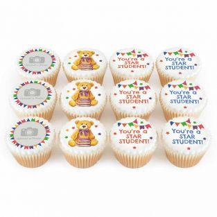 12 School Bear Cupcakes