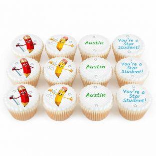 12 Pencil Cupcakes