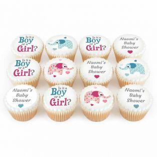 12 Boys or Girls Elephant Cupcakes