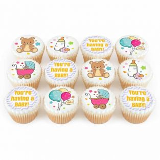 12 Baby Shower Cupcakes