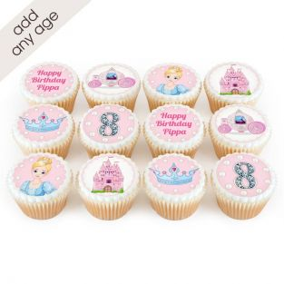 12 Cinderella Themed Cupcakes