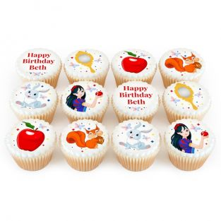 12 Snow White Themed Cupcakes