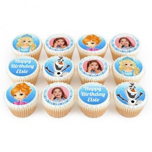12 Frozen Themed Cupcakes