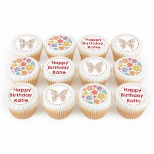 12 Butterfly Cupcakes