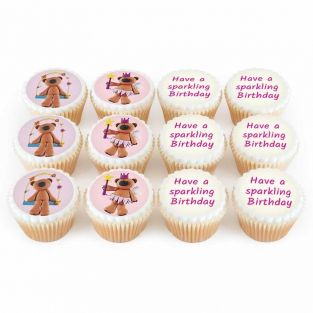 12 Pink Teddy Cupcakes