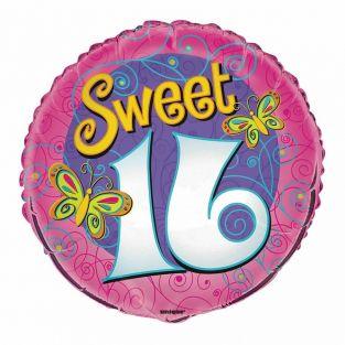 Pink Sweet 16th Balloon