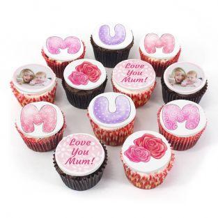12 Mum Cupcakes