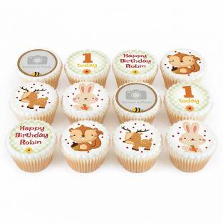 12 Wildlife Number Cupcakes