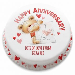 Ted Love Note Cake