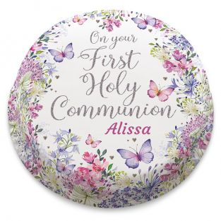 Flowery First Communion Cake