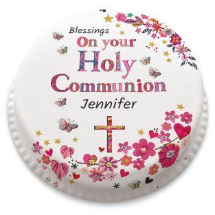 Pretty Communion Cake