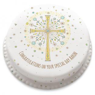 Glittery Cross Cake