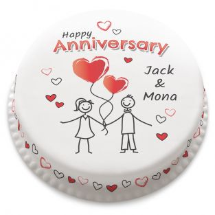 Anniversary Stickmen Cake