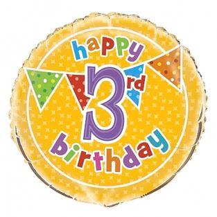 3rd Birthday Balloon