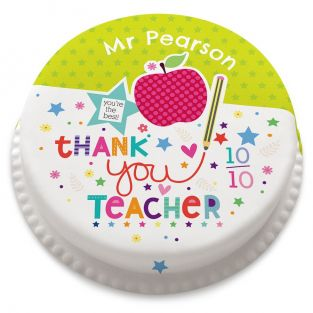 10 out of 10 Teacher Cake