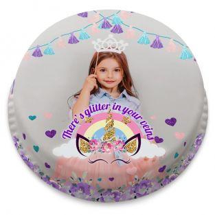 Unicorn Glitter Cake