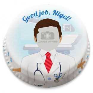 Male Doctor Photo Cake