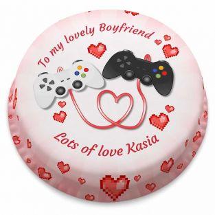 Gamer Love Cake