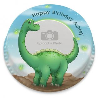 Great Dinosaur Photo Cake