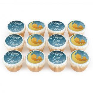 12 Eid Silhouette Cupcakes