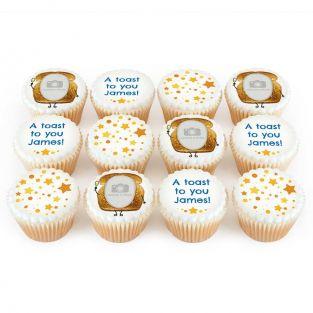 12 Toast Photo Cupcakes