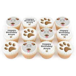 12 Dog Photo Cupcakes