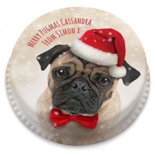Christmas Pug Cake