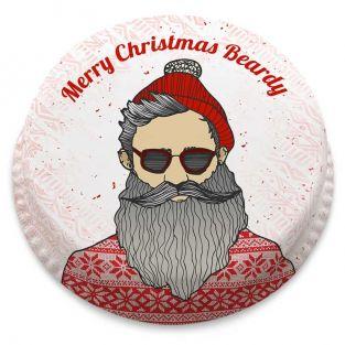Hipster Santa Cake