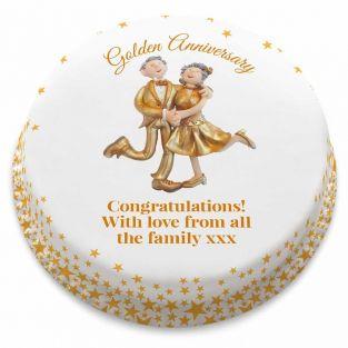 Golden Couple Cake