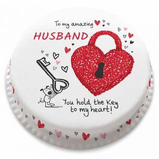 Key to my Heart Cake