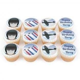 12 Pilot Photo Cupcakes