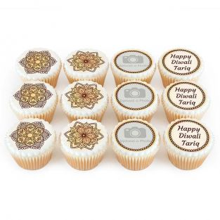 12 Henna Photo Cupcakes